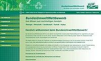 Website des Bundesumweltwettbewerbes