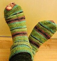 Bunte gestrickte Socken